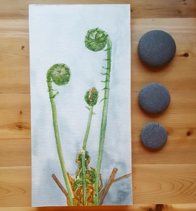 "6""x12"" Fiddleheads - SOLD"