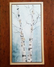"12""x24"" Birches w/ Maple Frame - Available"