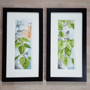 """5""""x12"""" Spring Birch Leaves - Both Available"""