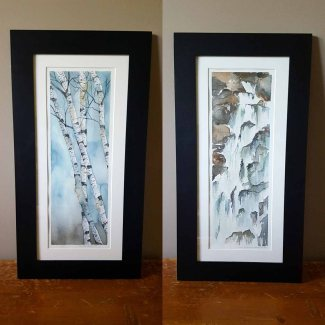 "5""x12"" Birches & Waterfall - Both SOLD"