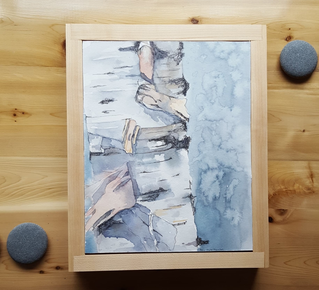 """8""""x1-"""" Birch w/ Maple Frame - Available"""