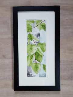"""5""""x12"""" Spring Birch Leaves - SOLD!"""
