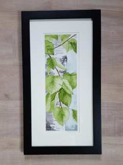 "5""x12"" Spring Birch Leaves - SOLD!"