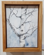 """Winter Hartland Birch - 6""""x8"""" Original Watercolor"""