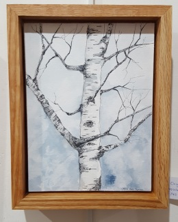 "Winter Hartland Birch - 6""x8"" Original Watercolor"