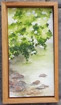 """Restful - 6""""x12"""" Original Watercolor - SOLD"""