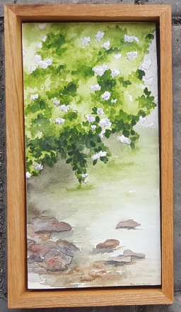 "Restful - 6""x12"" Original Watercolor - SOLD"