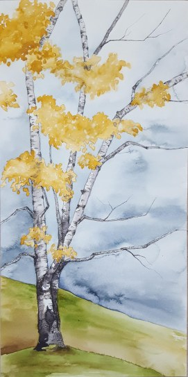 "Hartland Birch - 10""x20"" Original Watercolor"